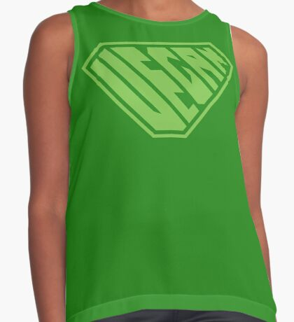 Vegan SuperEmpowered (Green) Contrast Tank