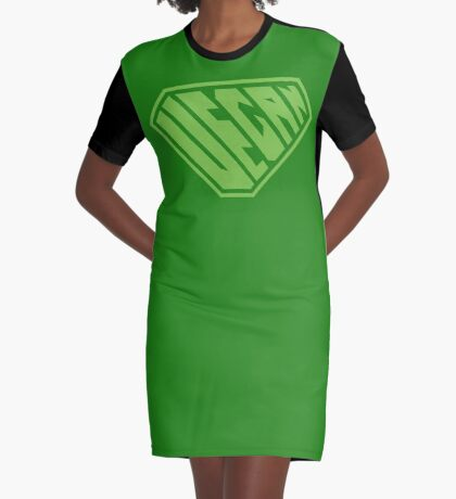Vegan SuperEmpowered (Green) Graphic T-Shirt Dress