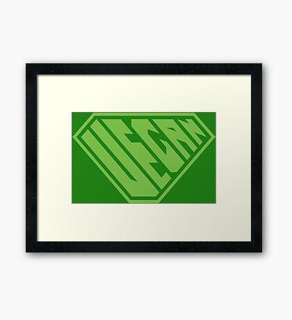 Vegan SuperEmpowered (Green) Framed Art Print