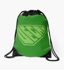 Vegan SuperEmpowered (Green) Drawstring Bag