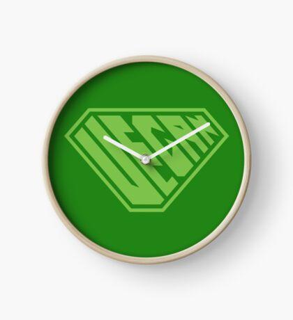 Vegan SuperEmpowered (Green) Clock