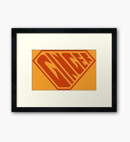 Ginger SuperEmpowered (Ginger) Framed Art Print