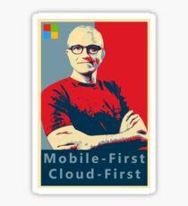 Satya Mobile First Cloud First Street Poster Sticker
