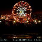 Santa Monica Pier October 18 2007 Night by Clayton Bruster