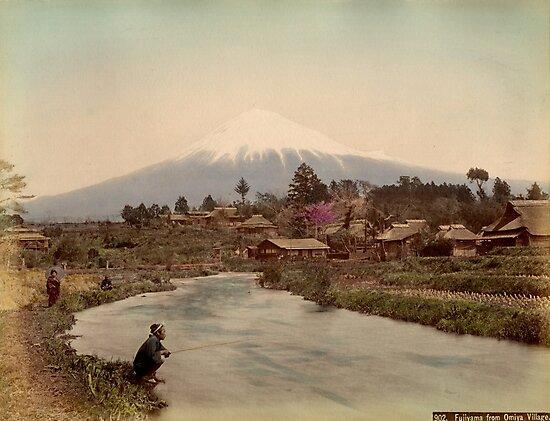 Mt. Fuji from Omiya Village 1880s by Fletchsan