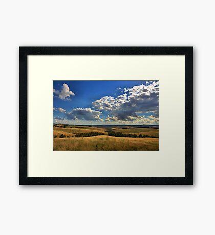 Donny Brook Hills - Victoria Framed Print