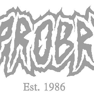 Opprobrium Logo (Gray / Est. 1986) by opprobriumstore