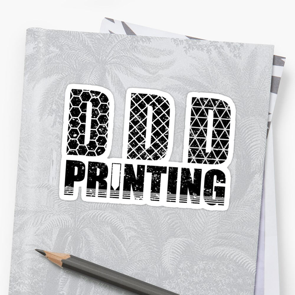 3d Printing Graphic Funny 3d Printer Humor T Shirt Stickers By