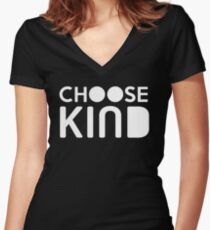 Choose Kind Official Merchandise Women's Fitted V-Neck T-Shirt