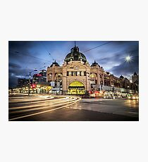 Flinders street station long exposure  Photographic Print