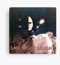 Late Night Delight by Luxury Elite and Saint Pepsi Canvas Print