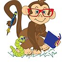Monkey & Bookworm by Creative Captures