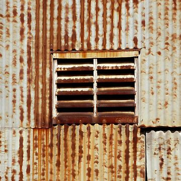 Rusty corrugated wall, Ivanhoe by rozmcq