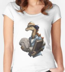 Archaeology Stegosaurus Women's Fitted Scoop T-Shirt