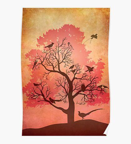 Tree of beaks Poster