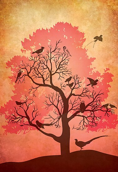 Tree of beaks by Narelle Craven