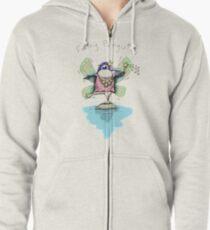 Cute Fairy Penguin Zipped Hoodie