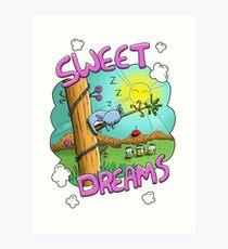 Sweet Dreams - Cute Sleeping Koala Art Print