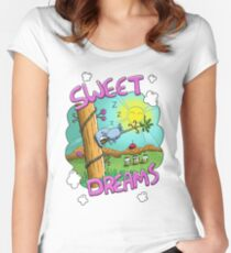 Sweet Dreams - Cute Sleeping Koala Fitted Scoop T-Shirt