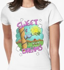 Sweet Dreams - Cute Sleeping Koala Fitted T-Shirt