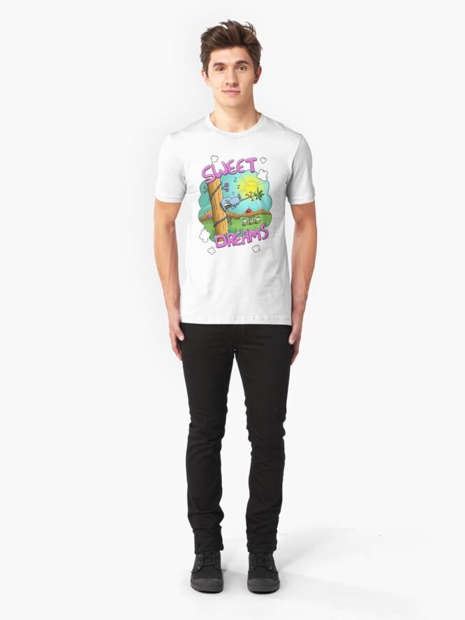 Alternate view of Sweet Dreams - Cute Sleeping Koala Slim Fit T-Shirt
