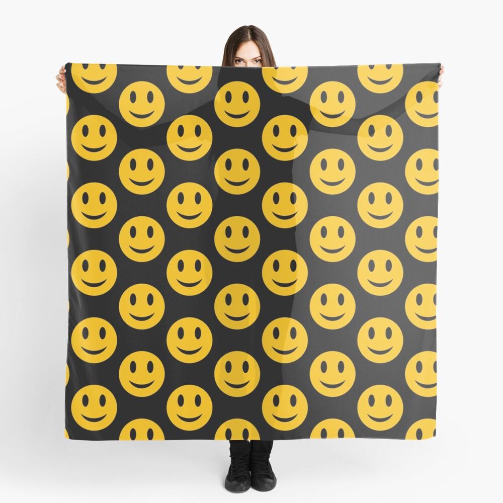 Smiley-Gesicht - rund Tuch