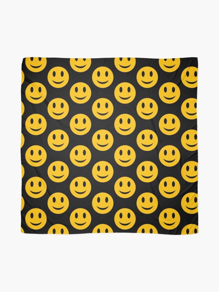 Alternative Ansicht von Smiley-Gesicht - rund Tuch