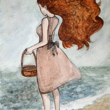 She and the sea by LauraMSS
