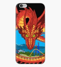 Soaring Over Mountains - Tatsu Roller Coaster at Six Flags iPhone Case