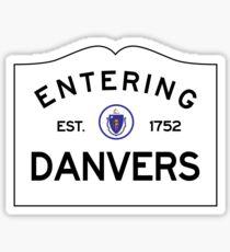 Entering Danvers - Commonwealth of Massachusetts Road Sign Sticker