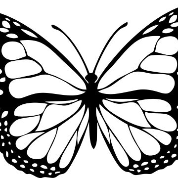 Butterfly black white by sfw-media
