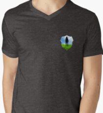 Eintritt in die Leere T-Shirt mit V-Ausschnitt für Männer