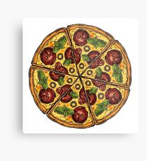 Pepperoni Pizza Metal Print