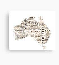 Map of continent Australia - illustration Canvas Print
