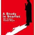 A Study in Scarlet Book Cover by Ian Fox