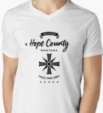Welcome To Hope County Men's V-Neck T-Shirt