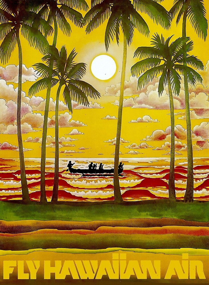 HAWAIIAN AIR; Travel and Tourism Print by posterbobs