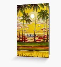 HAWAIIAN AIR; Travel and Tourism Print Greeting Card
