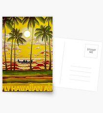 HAWAIIAN AIR; Travel and Tourism Print Postcards