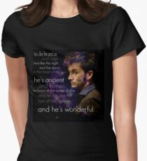 Doctor Who- Tenth Doctor Devid Tennant  Womens Fitted T-Shirt