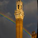 Rainbow Tower Siena Italy by J Jennelle