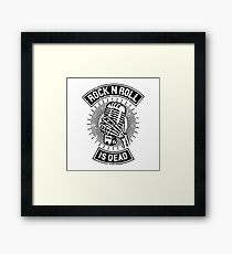 Rock and Roll is Dead Framed Print