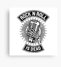 Rock and Roll is Dead Canvas Print