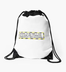 Windows Vulnerability Drawstring Bag
