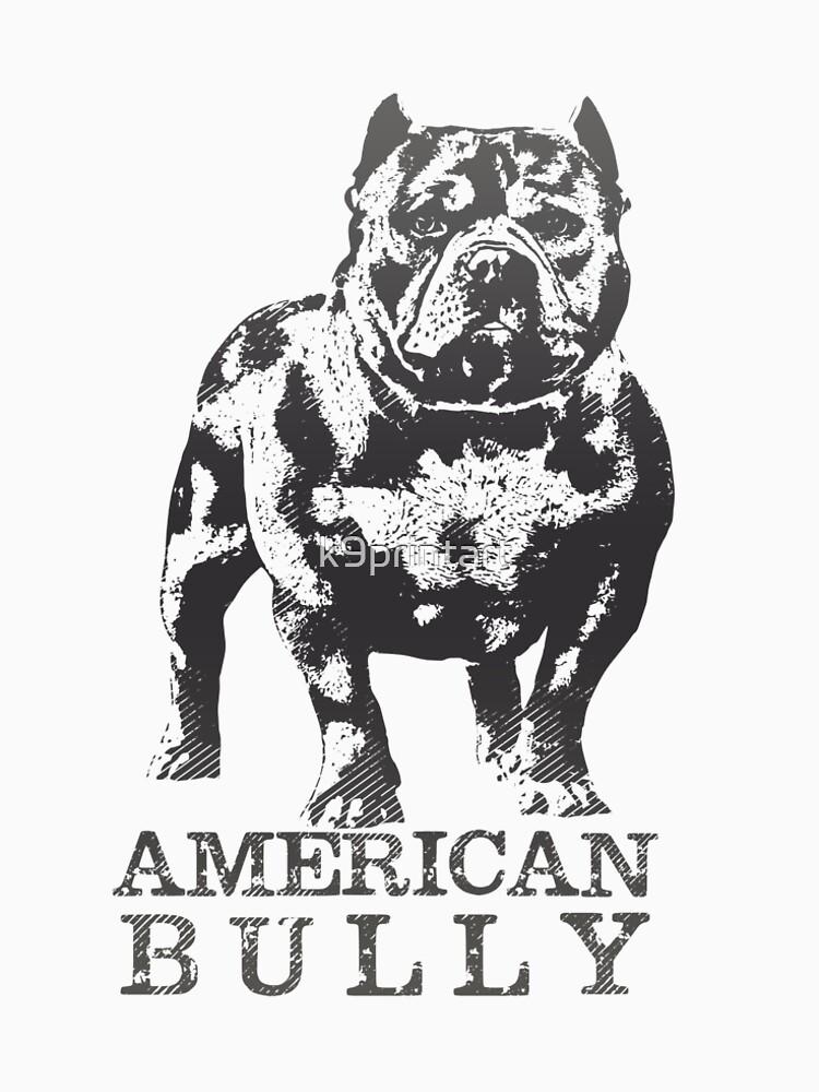 american bully women s premium t shirt by k9printart redbubble American Bulldog american bully by k9printart