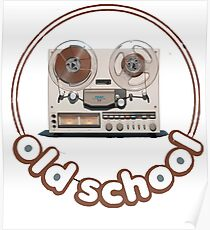 Old school tape recorder Poster
