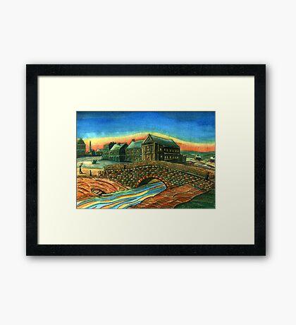 173 - WATERLOO BRIDGE, BLYTH - DAVE EDWARDS - WATERCOLOUR - 2007 Framed Print