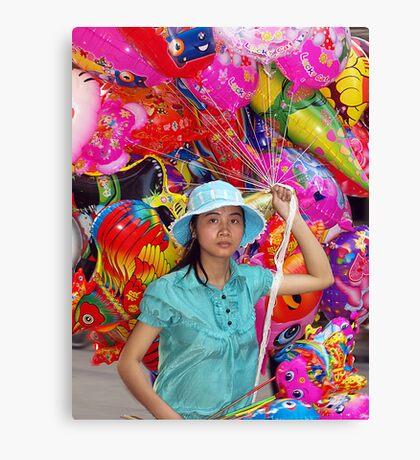 Balloon Seller - Hanoi, North Vietnam Canvas Print