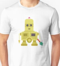 Giant yellow robot with a tree club Unisex T-Shirt
