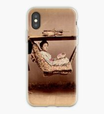 Japanese Kago, travelling chair iPhone Case